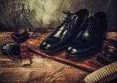 Shoe care accessories — 图库照片