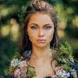 Elf woman in a magical forest — Stock Photo #80925434
