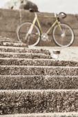 Stege framför cykel i makro-läge — Stockfoto
