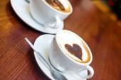 Noel ruh hali ve kahve — Stok fotoğraf