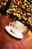 Christmas mood and some coffee — Stock Photo