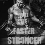 Постер, плакат: Sportsman is doing exercises in gym