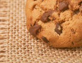 A closeup shot of a chocolate chip cookie — Stock Photo