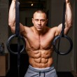 Strong muscular man bodybuilder — Stock Photo #62585433