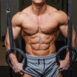 Strong muscular man bodybuilder — Stock Photo #62585601