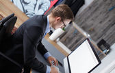 Young business man in office. — Stock Photo
