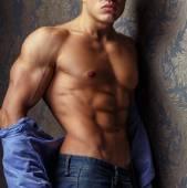 Muscular body of male model. — Stock Photo