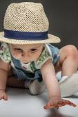 Cute child in action — Stock Photo