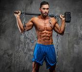 Muscular shirtless man — Stock Photo