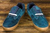 暗い青い男の靴 — ストック写真