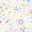 Baby seamless pattern — Stock Vector #53292087