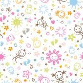 Baby naadloze patroon — Stockvector