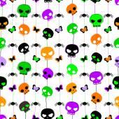 хэллоуин бесшовные модели — Cтоковый вектор