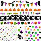Halloween party set — Stock Vector