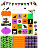 Halloween design elements — Stock Vector