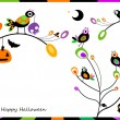 Halloween card with crows — Stock Vector #56192441