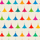 Christmas trees seamless pattern — Stock Vector