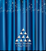 Blue festive card for christmas and new year — Wektor stockowy