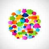 Bubbles speech, no transparencies — Stock Vector