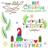 Christmas design elements set — Stock Vector