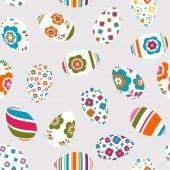 Красочные пасхальные яйца бесшовный образец — Cтоковый вектор