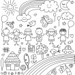 Child like drawings set — Stock Vector #70069647