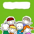 Group of kids card — Stock Vector #71182107
