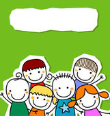 Group of kids card — Stock Vector