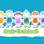 kids group, back to school — Stock Vector #71217235
