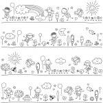 Black and white pattern for children — Stock Vector #71484751