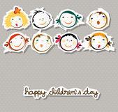 Šťastný dětský den — Stock vektor
