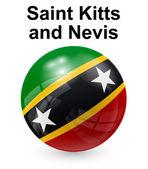 Saint kitts nd nevis statligt sjunker — Stockvektor
