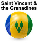 Saint vincent and the grenadines state flag — Stock Vector