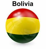 Bolivia ball flag — Stock Vector
