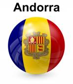 Andorra official state flag — Stock Vector