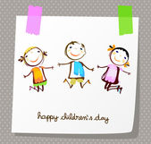 Happy childrens day — Stock Vector