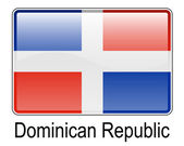 Dominican republic state flag — Stock Vector