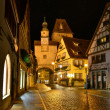 Night illuminated view of old German town  Rotenburg on Tauber. — Stock Photo #53532401