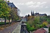Bamberg, Germany, Famous place- rose garden. — Stock Photo