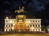 Monument of Piter First, Medniy horseman, in Saint-Petersburg, n — Foto Stock