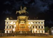 Monument of Piter First, Medniy horseman, in Saint-Petersburg, n — Stock Photo