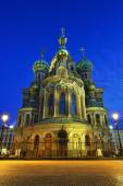 Church Savior on Blood in St-Petersburg, Russia.  Night view. — Stock Photo