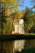 Autumn landscape with Pavilion  in Alexander's garden — Foto Stock