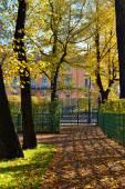Engineering castle and  Summer garden in St-Petersburg — Stock Photo