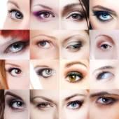 Mosaic eyes — Stock Photo