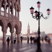 St. Marks column on Piazza San Marco — Stock Photo