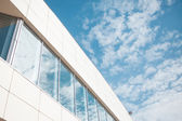Building glass background, wall with Windows — Stock Photo