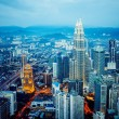 Kuala Lumpur skyline at night, view of the centre  city from TV tower — Stock Photo #69782991