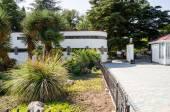 Main entrance to the Nikitsky Botanical Gardens. Crimea, Yalta. — Stock Photo