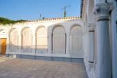 Courtyard of expectations prayers in the Karaite kenassas. Yevpa — Stock Photo